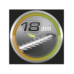 Distancia entre dientes 18 mm.